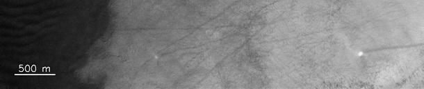 На Марсе сняли гигантские смерчи 2