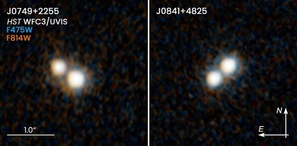 Hubble обнаружил уникальные двойные квазары 1
